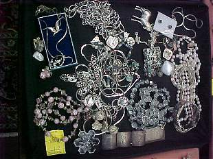 COSTUME JEWELRY VENDOME STERLING CRYSTAL