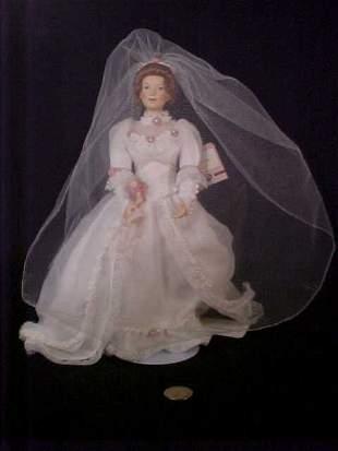 PORCELAIN BRIDE DOLL ASHTON DRAKE GALLERI