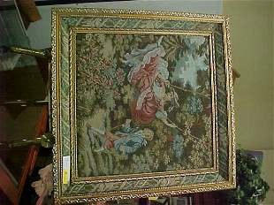 FRAMED VICTORIAN STYLE TAPESTRY LOVERS SW