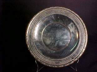STERLING SILVER RETICULATED ROUND PLATE