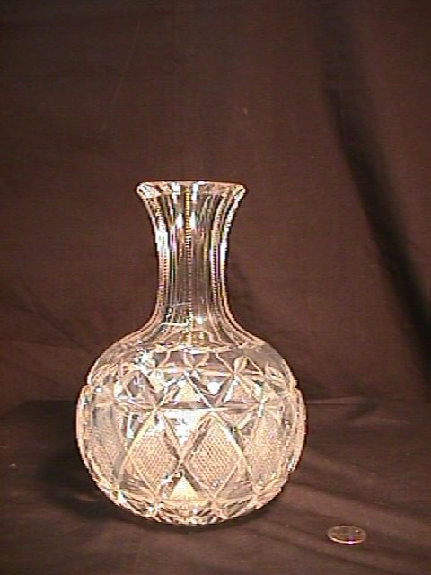 822: SIGNED HAWKES CUT GLASS CRYSTAL CARAFE