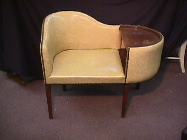 895: 50s TELEPHONE CHAIR / TABLE