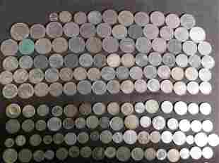 THREE POUNDS OF ASSORTED FOREIGN COINS