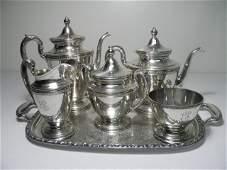 GORHAM SILVER PLATED TEA SERVICE 6 PCS