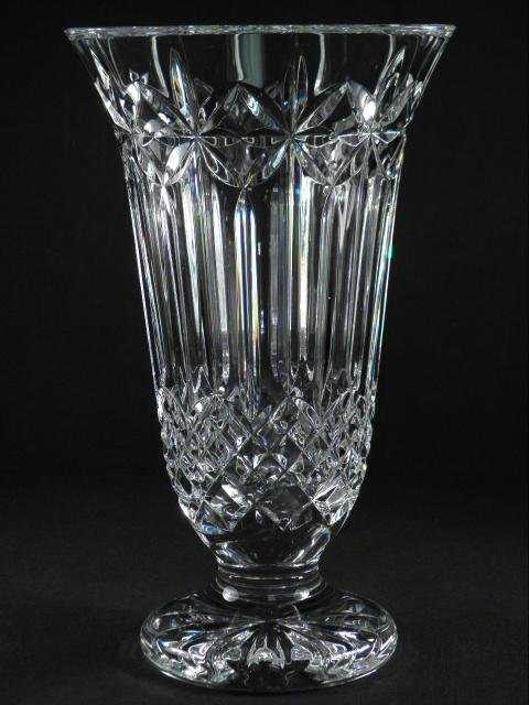 Waterford Balmoral Cut Crystal 12 Footed Vase