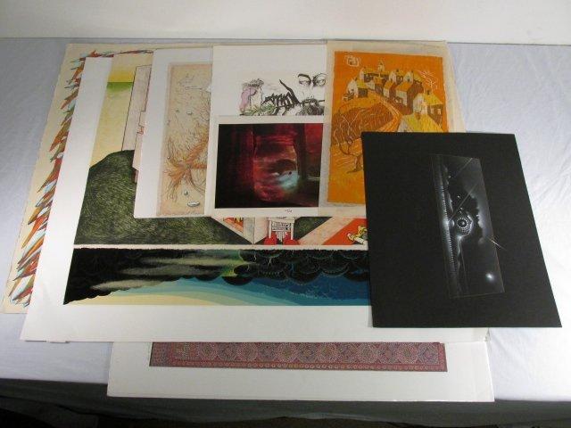 ASSORTED ARTWORK: PEG FIERKE, ETC. 8 PCS