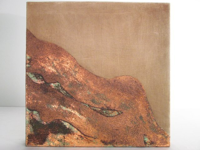 "ANDRE PARADIS MIXED MEDIA ON CANVAS: ""MOUNT COPPER"""
