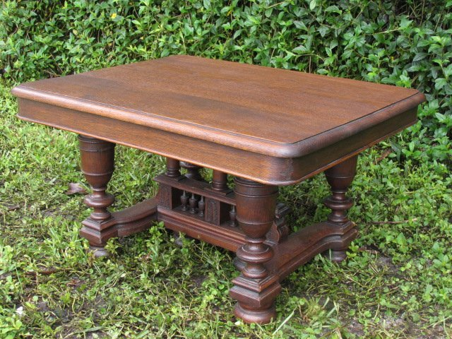 DUTCH CARVED OAK COFFEE TABLE
