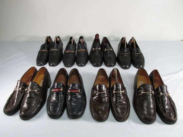 EIGHT PAIRS MENS DRESS SHOES: GUCCI, ETC.