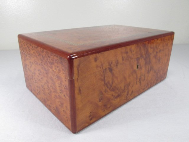 DUNHILL INLAID BIRD'S EYE MAPLE HUMIDOR