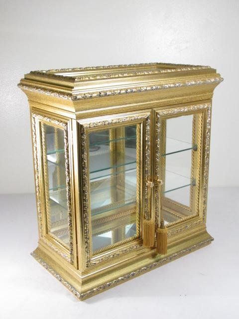 SMALL ITALIAN GILDED COUNTER TOP DISPLAY CASE