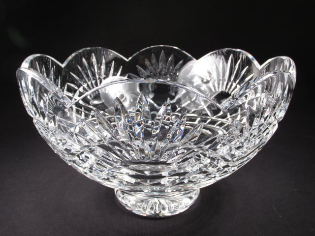 WATERFORD IRISH CUT CRYSTAL FOOTED BOWL