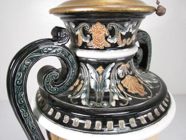 19TH C ITALIAN CERAMIC URN MOUNTED AS TABLE LAMP - 5