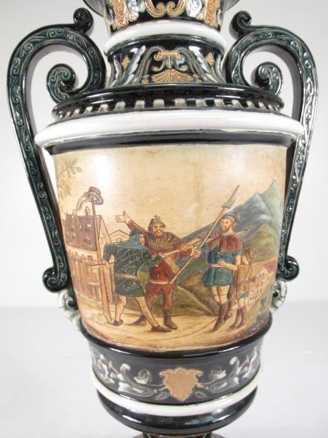 19TH C ITALIAN CERAMIC URN MOUNTED AS TABLE LAMP - 6