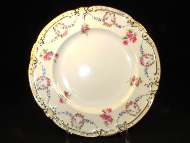 SIX MINTONS HAND PAINTED PLATES FOR TIFFANY & CO - 2