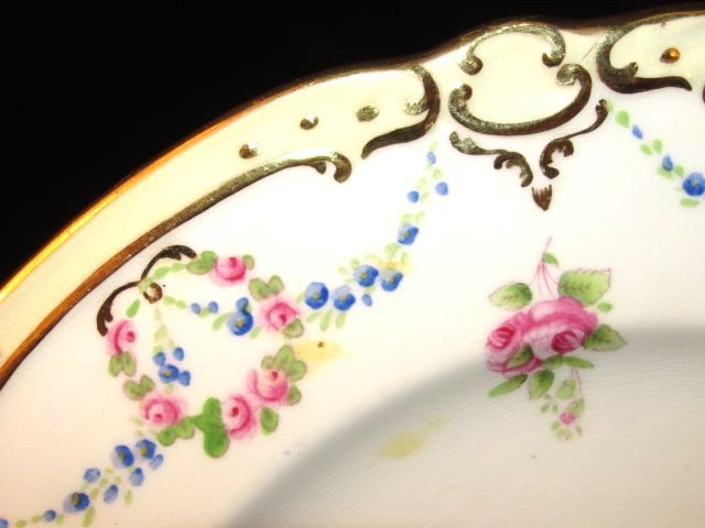 SIX MINTONS HAND PAINTED PLATES FOR TIFFANY & CO - 3