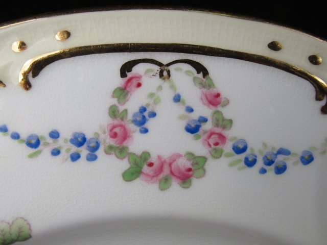 SIX MINTONS HAND PAINTED PLATES FOR TIFFANY & CO - 4