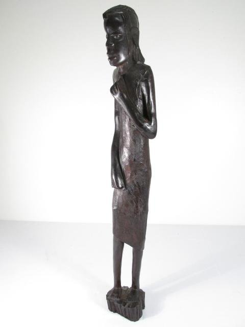 FOUR AFRICAN CARVED EBONY WOOD FIGURES - 2
