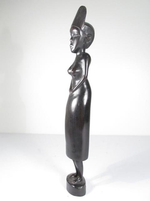 FOUR AFRICAN CARVED EBONY WOOD FIGURES - 4