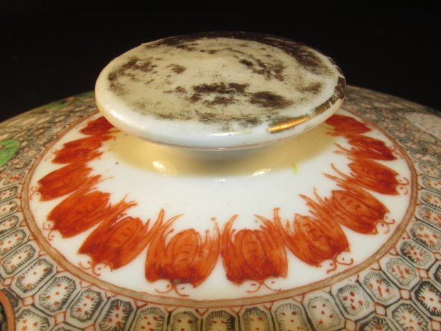 CHINESE HAND PAINTED PORCELAIN COVERED TUREEN - 4