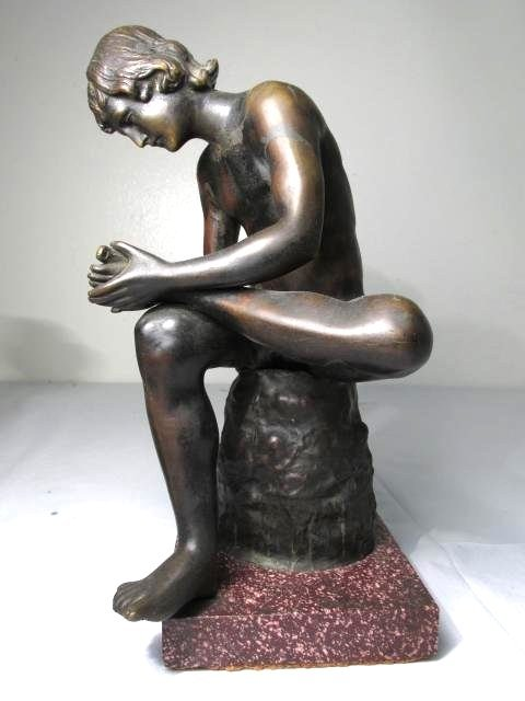 TWO CLASSICAL STYLE NUDE BRONZE SCULPTURES - 2