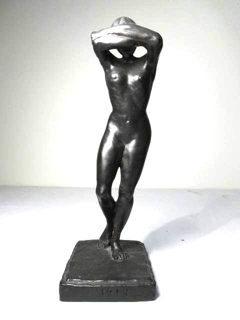 TWO CLASSICAL STYLE NUDE BRONZE SCULPTURES - 3