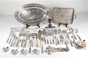 LOT OF ASSORTED SILVER PLATED TABLEWARES