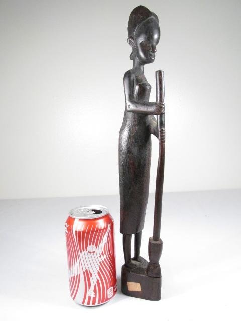 FIVE AFRICAN CARVED EBONY WOOD FIGURES - 10