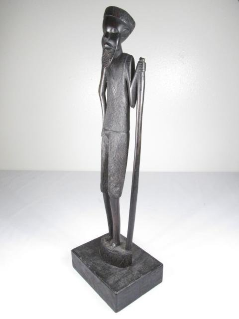FIVE AFRICAN CARVED EBONY WOOD FIGURES - 4