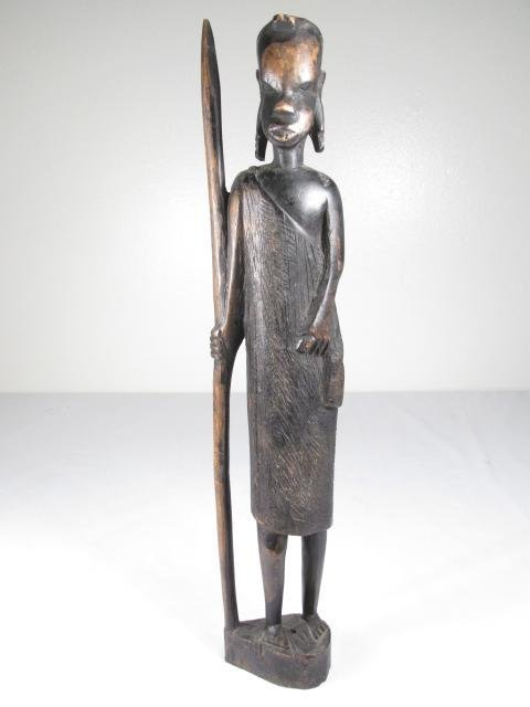 FIVE AFRICAN CARVED EBONY WOOD FIGURES - 6