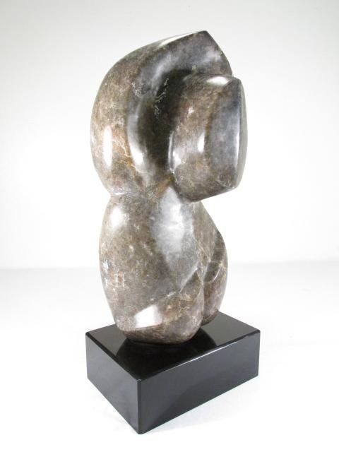 PAT SCHUPPER ABSTRACT MARBLE SCULPTURE: NUDE ON BASE