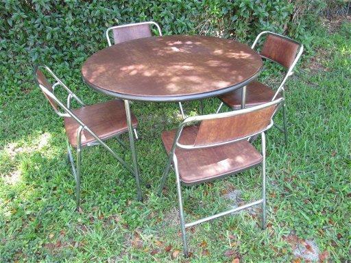 Marvelous Vintage Cosco Folding Card Table With Four Chairs May 21 Creativecarmelina Interior Chair Design Creativecarmelinacom