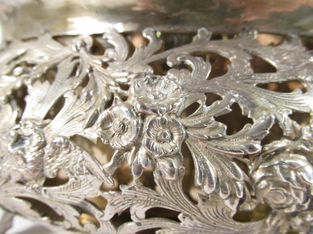 19TH C GERMAN .800 SILVER CENTERPIECE WITH FLOWER FROG - 6