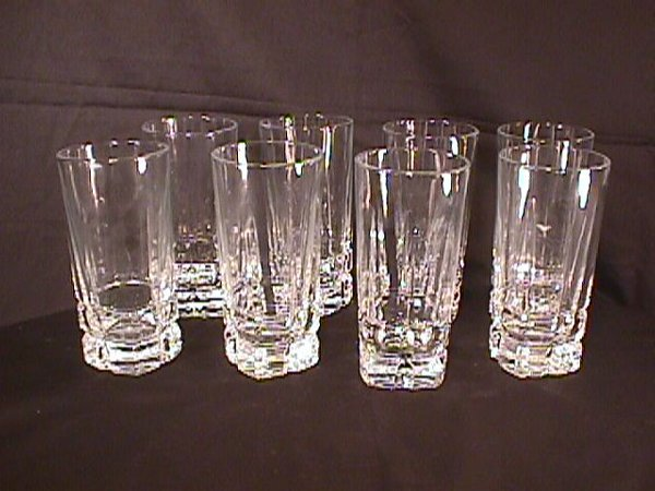 11: 8 LIBBY GLASS WATER GLASSES