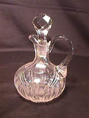 ANTIQUE CUT GLASS CRSYTAL CRUET