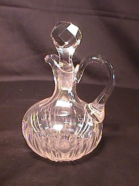 12: ANTIQUE CUT GLASS CRSYTAL CRUET