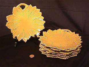 STEUBENVILLE WOODFIELD POTTERY PLATES 8