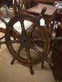 33: WOOD SHIP'S SHIP STEERING WHEEL