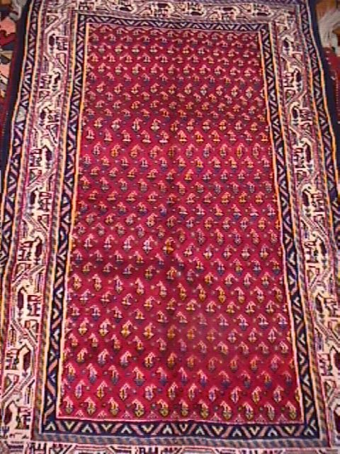 16A: PERSIAN BOTEMIR HAND KNOTTED RUG