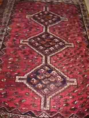 HAND KNOTTED SHIRAZ CARPET