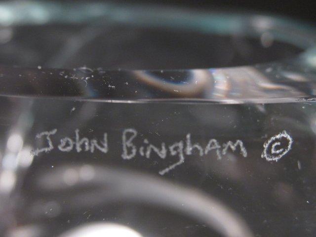 JOHN BINGHAM AMORPHIC GLASS SCULPTURE - 4