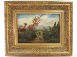 OIL ON CANVAS PAINTING ATTR. TO HUDSON RIVER SCHOOL
