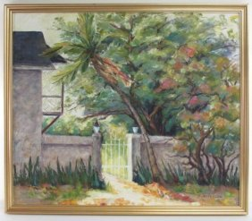 """OIL ON CANVAS PAINTING SIGNED """"B. JEFFERSON"""""""