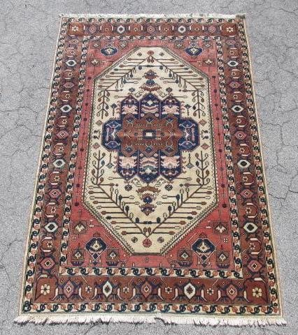 PERSIAN HAND KNOTTED WOOL AREA RUG 9 X 5'10""