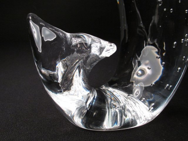 STEUBEN ART GLASS LEAPING FISH - 6