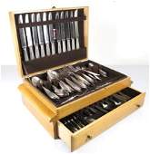 LARGE CHRISTOFLE SILVER PLATED FLATWARE SET 130 PCS
