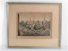 19TH C N CURRIER LITHOGRAPH VIEW OF THE PARK