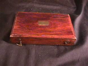 ANTIQUE BOX WITH PRINTERS BRASS TOOLS
