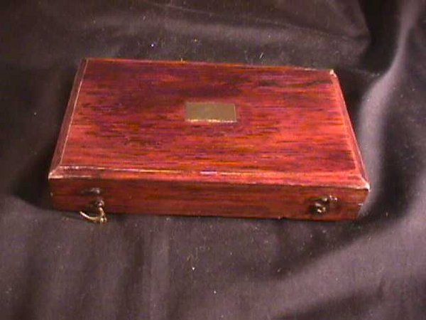 446: ANTIQUE BOX WITH PRINTERS BRASS TOOLS