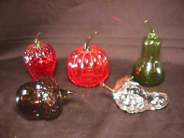 448: GROUP ASSORTED ART GLASS FRUIT